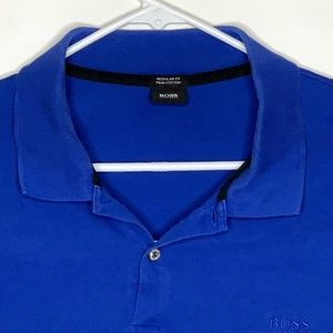 Hugo Boss Mens Designer Polo SS Blue 2XL